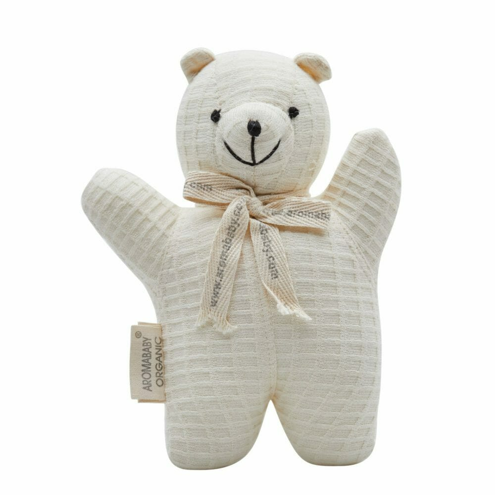 Aromababy Organic Rattle Teddy Bear